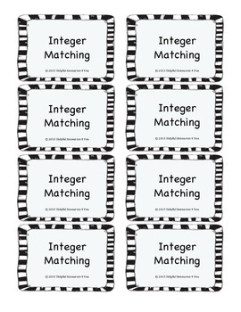 Integer Matching Game