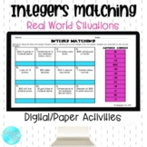 Integer Matching Real World Situations- Paper/Digital Activities