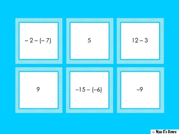 Integer Matching Subtraction 7.NS.1