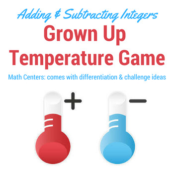 Integer Math Center: Grown Up Weather