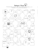 Integer Maze