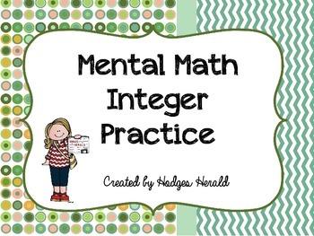 Integer Mental Math Practice