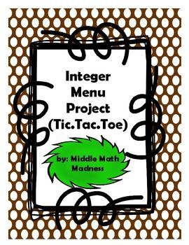 Integer Menu Project (Tic.Tac.Toe)