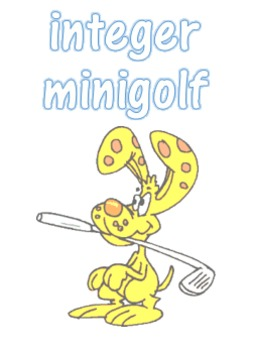 Math Integer Minigolf - a dice review game for operations