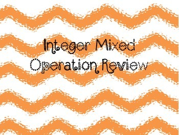 Integer Mixed Operation Review