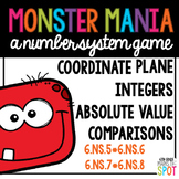 Integer Monster Board Game CCSS 6.NS.5, 6.NS.6, 6.NS.7, 6.