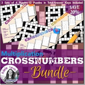 Integer Multiplication Crossnumber **BUNDLE**