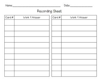Integer Multiplication & Division Self-Checking Task Cards