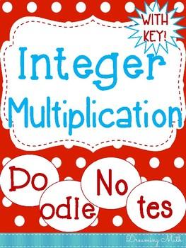 Integer Multiplication Doodle Notes