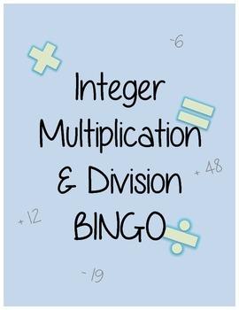 Integer Multiplication and Division BINGO