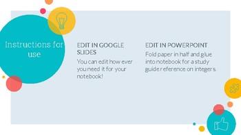 Integer Notebook Set