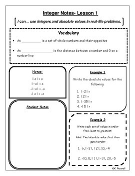 Integer Notes
