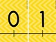 Integer Number Line -20 to 20: Updated Font Style!