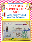 Integer Number Line Art Activity -Positive and Negative Nu
