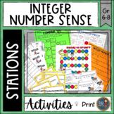 Integer Number Sense Math Stations