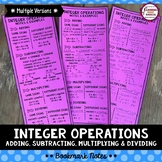 Integer Operation (Adding, Subtracting, Multiplying & Divi