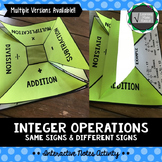 Integer Operation Interactive Notes Activity