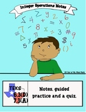 Integer Operation Notes and Guided Practice