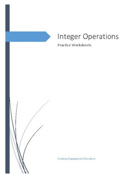 Integer Operations Practice Sheets - Add, Subtract, Multiply, Divide