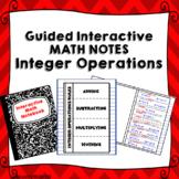 Integer Operation Rules Math Interactive Foldable