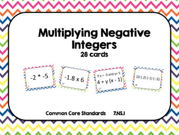 Integer Operation Task Card Bundle (140 cards)