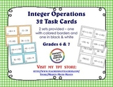 Integer Operations - 32 Task Cards Middle School Math