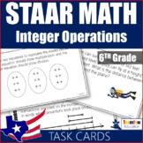 Integer Operations Task Cards 6th Grade