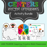 Integer Operations Math Centers Activity Bundle