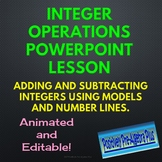 Integer Operations Adding and Subtracting PowerPoint Lesson - Distance Learning