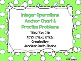 Integer Operations Anchor Chart and Practice
