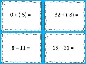 Integer Operations Bingo