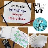 7th & 8th Grade Math Integer Operations Bingo