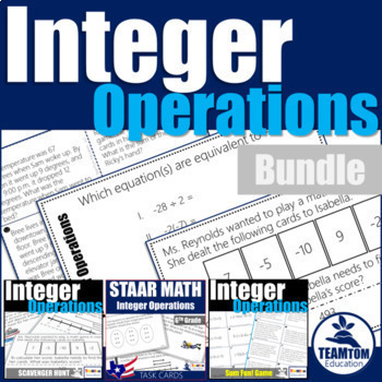 Integer Operations Activities Bundle