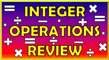 Integer Operations Bundle: Smart Notebook, quizzes, stations, and posters