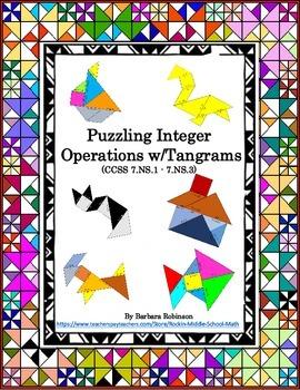 Integer Operations-Tangram puzzles- (CCSS 7.NS.A.1 to 7.NS.A.3)