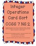Integer Operations Card Sort 7.NS.A.2