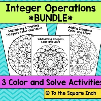 Integer Operations Color and Solve Bundle