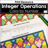 Integer Operations Color by Number