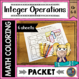 Integer Operations Color with Math