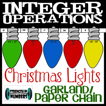 Integer Operations Cooperative Paper Chain Garland Chirstmas Lights