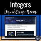 Integer Operations Digital Escape Room