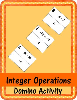 Integer Operations - Domino Activity