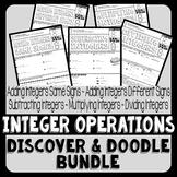 Integer Operations Discover & Doodle Bundle