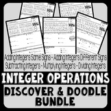 Integer Operations Discover & Doodle Bundle