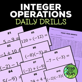 Integer Operations Timed Drills, Power Point