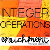 Integer Operations Enrichment: Math Logic Puzzles