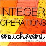 Integer Operations Enrichment: Math Logic Puzzles