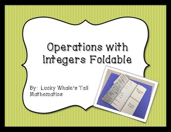 Integer Operations Foldable