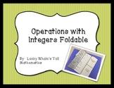 Integer Operations Foldable