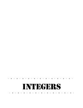 Integer Operations Foldable- Student Copy